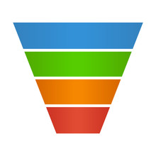 Sales Lead Funnel Flat Icon Fo...