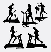 Treadmills Sport Activity Silh...