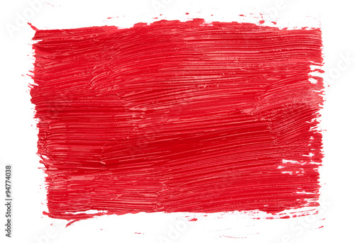 Fototapety, obrazy: Strokes of red paint