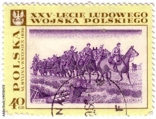 Poster  POLAND - CIRCA 1968: stamp printed in Polska shows September 193