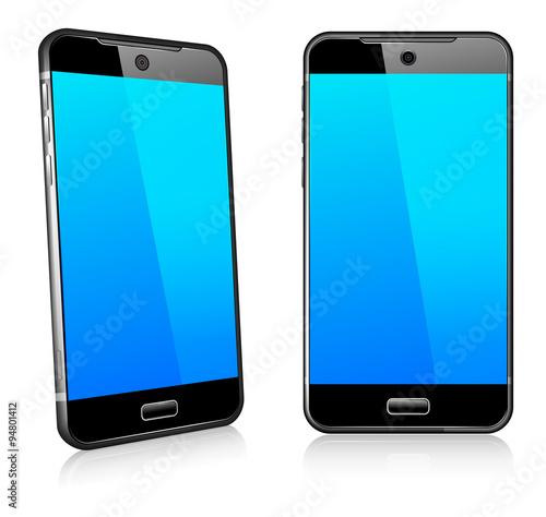 Slika na platnu Phone Cell Smart Mobile 3D and 2D