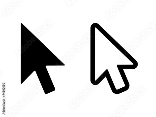 Fotografía  Computer mouse click pointer cursor arrow flat icon for apps and websites