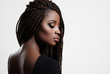 Black Woman With Braids And Ev...