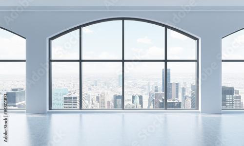 Fotografie, Obraz  An empty modern bright and clean loft interior