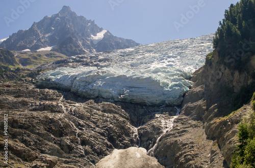 Foto op Aluminium Gletsjers Glacier des Bossons Chamonix
