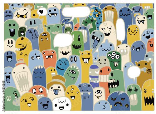recznie-rysowane-doodle-cudzoziemcow-i-potworow-doodle