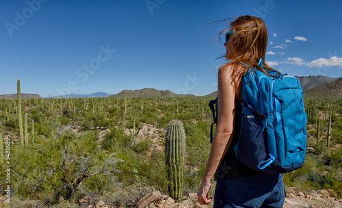 Papiers peints Cactus desert hike