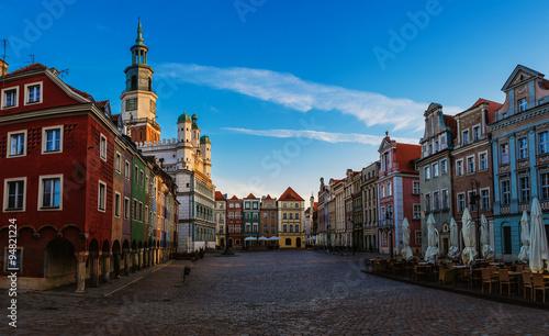 Plakat Stare miasto w Poznaniu, Polska