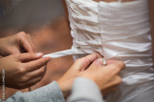 Fotomural Bride dress knotted