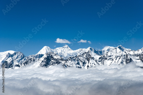Wall mural - View from Cho La Pass - Nepal
