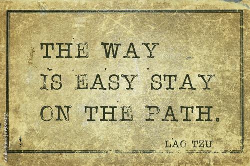 stay on path LT