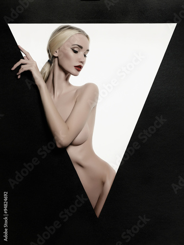 naked sexy girl in a triangle Poster