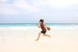 Woman - travel on the beach