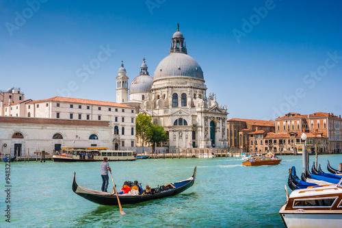 Stickers pour porte Venise Canal Grande with Basilica di Santa Maria della Salute, Venice, Italy