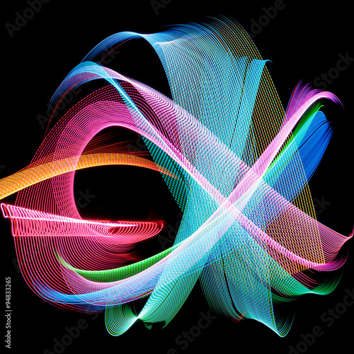 Fotografie, Tablou  Abstract freezelight curves