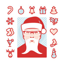 Santa With Icons