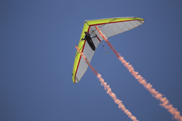 FototapetaHang glider during opening ceremony, July 4, Independence Day Parade, Telluride, Colorado, USA, 04.07.2014