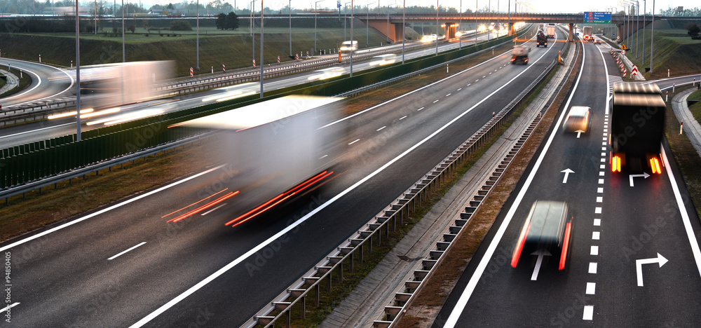 Fototapety, obrazy: Four lane controlled-access highway in Poland