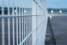 Bars Fence With A Blurry Background