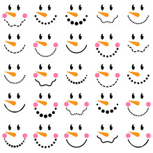 Vector Collection Of Cute Snow...
