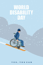 World Disabilities Day. Man In...