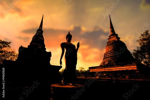 Fotografie, Obraz  Sukhothai historical park at Sukhothai province in Thailand