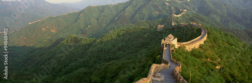Foto op Canvas Peking The Great Wall at Mutianyu in Beijing in Hebei Province, People's Republic of China