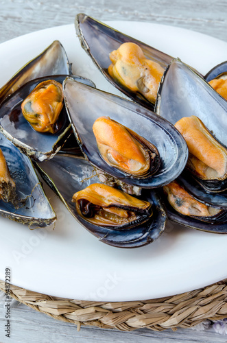 Stampa su Tela  Mussels in the shell