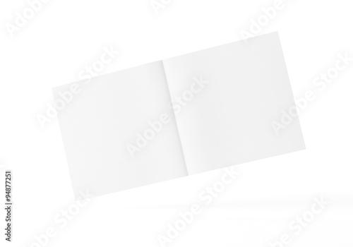 Fotografia, Obraz  Flyer Broschüre weiss