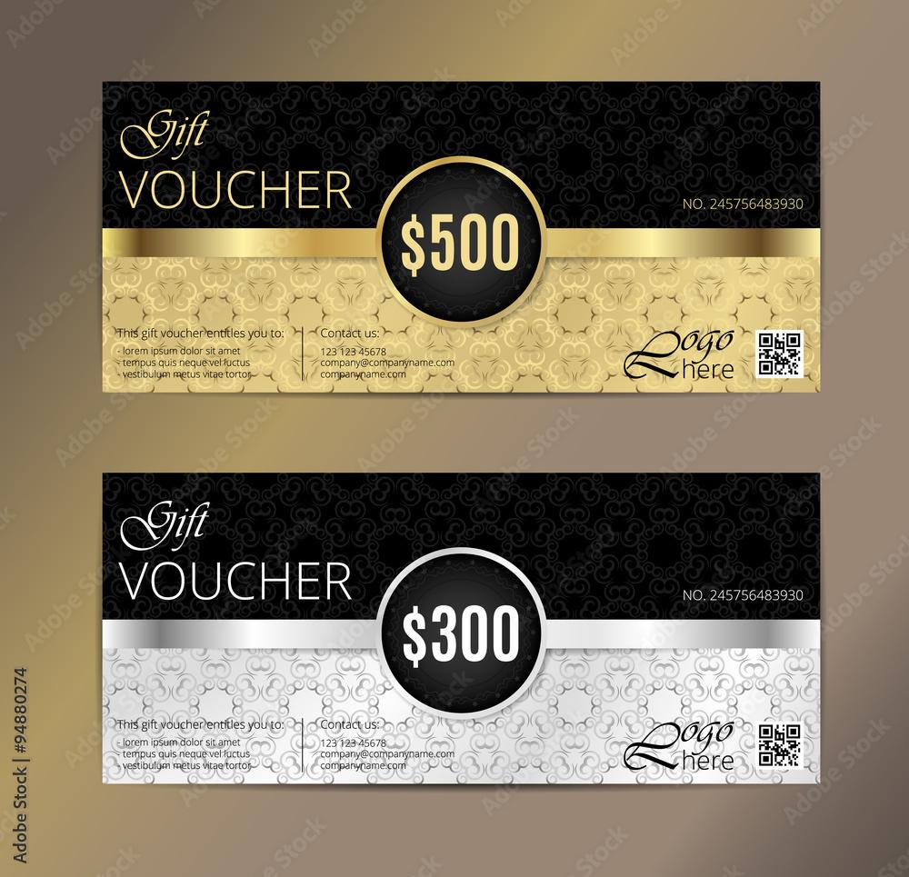 Voucher Gift Certificate Coupon Template Foto Poster Wandbilder