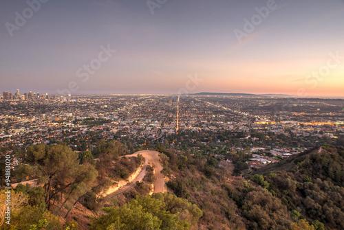 Staande foto Los Angeles Beautiful aerial view in Los angeles