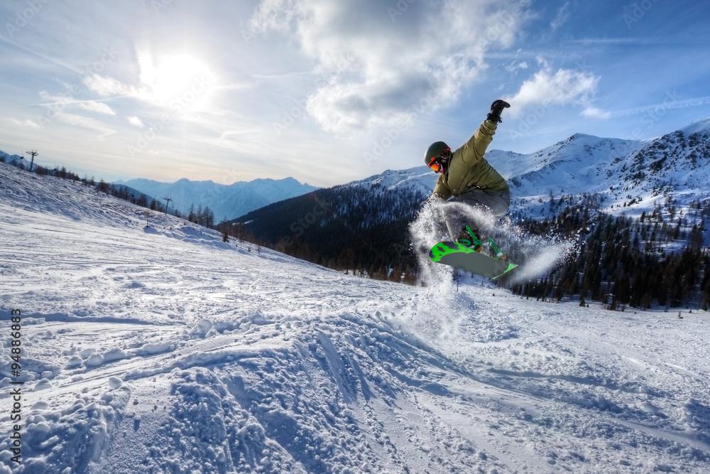24ca1449326 Photo   Art Print Expert Snowboarder jump