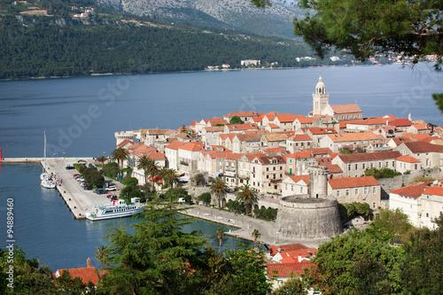 Fotografie, Obraz  Old Town of Korcula, Korcula Island, Croatia