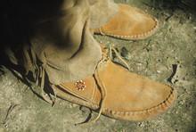 Close-up Of Moccasins, Tsalagi Village, Cherokee Nation, OK