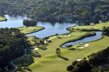 Aerial Shot Of Golf Course On ...