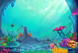Fototapeta Do akwarium - Underwater World - Scene Design