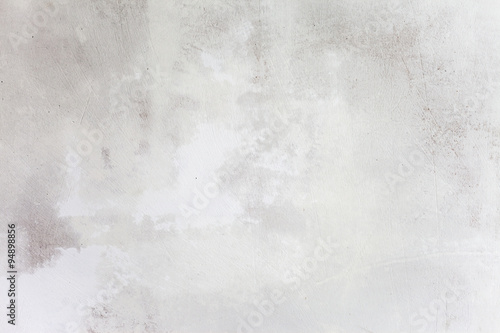 Poster Beton Grungy White Concrete Wall Background