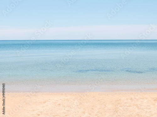 Poster Tropical plage Seascape pastel tone with copy space