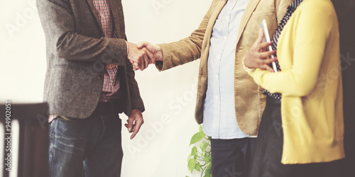 Pinturas sobre lienzo  Business People Meeting Corporate Handshake Greeting Concept