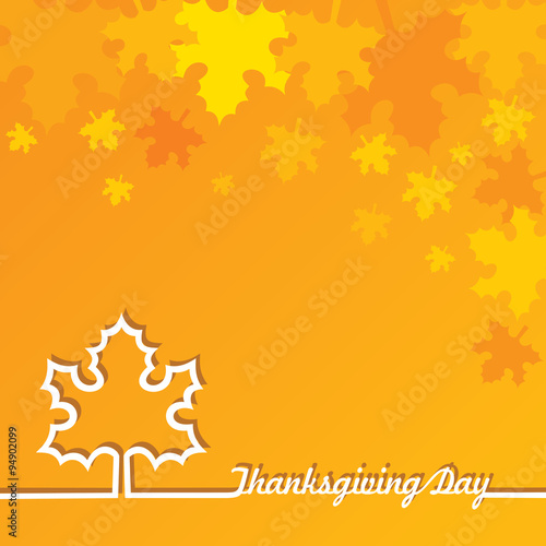 Creative Thanksgiving Day Background stock vector Poster