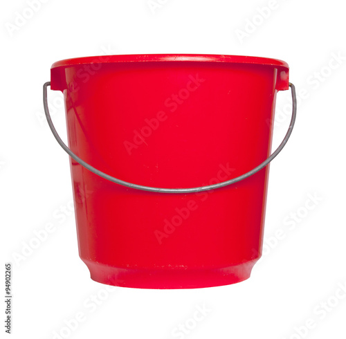 Single red bucket isolated Wall mural