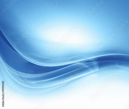 Tuinposter Abstract wave abstract blue background