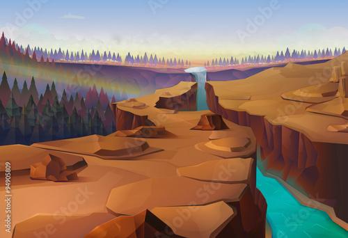 Fotografie, Obraz  Canyon, nature vector background