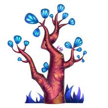 Exotic Plants Set - No.6 - Ginkgo Tree - Dark Version
