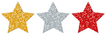 Stars Sparkling Gold/Silver/Red
