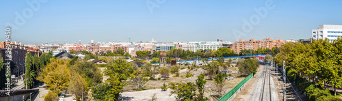 Photo Panoramic view of railway near the rail museum in Delicias neighborhood in Madrid