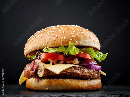 Tablou Canvas fresh tasty burger