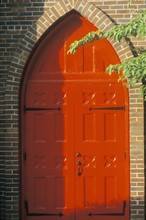 Behind The Red Door Church In Westfield New York