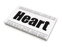Healthcare Concept: Newspaper ...