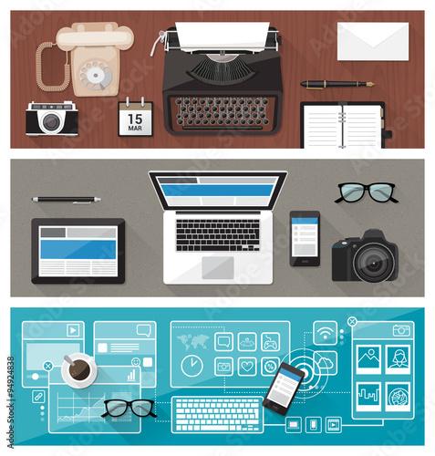 Fototapeta Desktop and devices evolution obraz